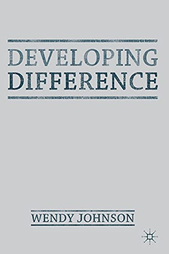 9780230303447: Developing Difference