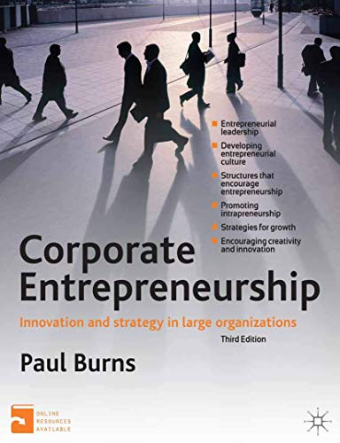Corporate Entrepreneurship: Innovation and Strategy in Large Organizations (0230304036) by Paul Burns