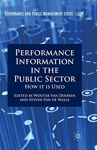 9780230309128: Performance Information in the Public Sector: How it is Used (Governance and Public Management)
