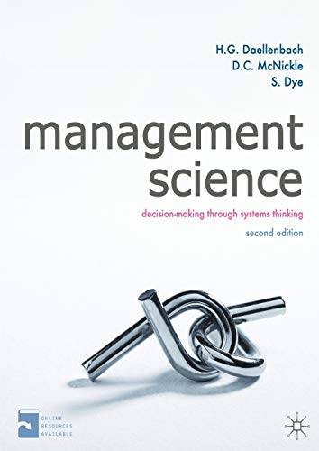 9780230316478: Management Science: Decision-making through systems thinking