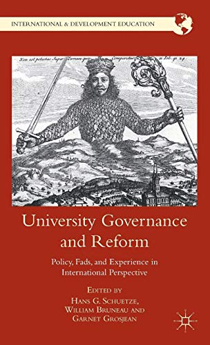 9780230340121: University Governance and Reform: Policy, Fads, and Experience in International Perspective (International and Development Education)