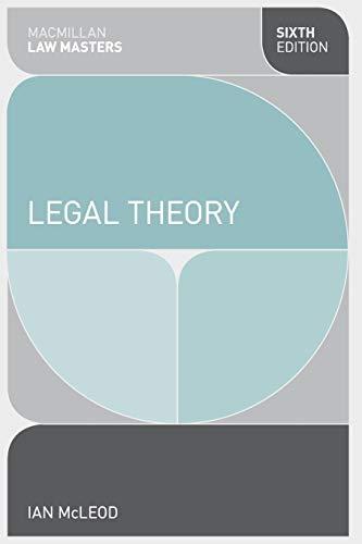 9780230362048: Legal Theory (Palgrave Macmillan Law Masters)