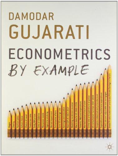 9780230394353: Econometrics By Example Indian ed