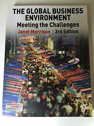 9780230395091: Global Business Environment Meeting the Challanges 3/Ed.
