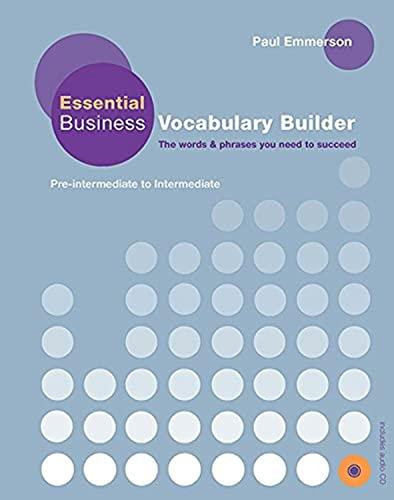 9780230407619: Essential Business Vocabulary Builder: Pre-Intermediate to Intermediate [With CD (Audio)]