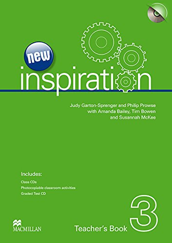 9780230412460: New Inspiration Level 3: Teacher's Book, Test CD and Audio CD Pack