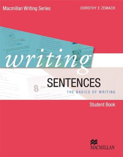9780230415911: Writing sentences. Per le Scuole superiori. Con DVD. Con espansione online (Macmillan Writing Series)