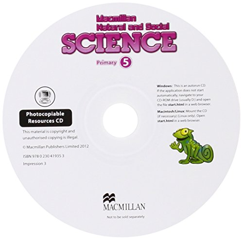 9780230419353: Macmillan Natural and Social Science Level 5 Photocopiable Resources CDx1