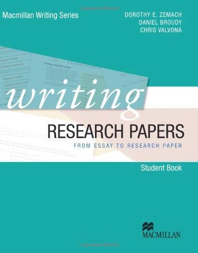 9780230421943: Writing Research Papers - from Essay to Research Paper