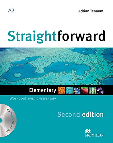 9780230423060: Straightforward 2nd Edition Elementary Level Workbook with key & CD
