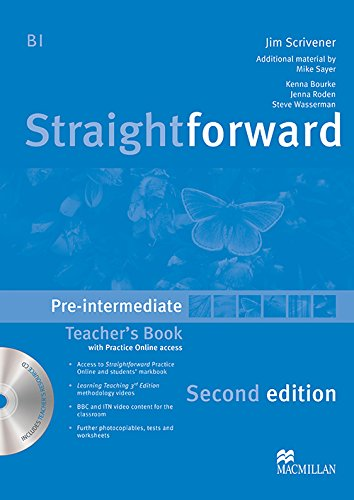 Straightforward Pre-Intermediate Level: Teacher's Book Pack (9780230423206) by Scrivener, Jim