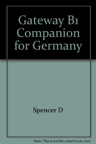9780230428522: Gateway B1 Companion for Germany