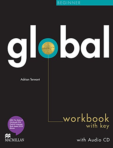 9780230430181: Global Beginner Workbook with Answer Key & Audio CD