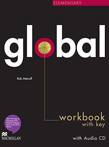 9780230430211: Global Elementary Workbook with Answer Key & Audio CD (A2)