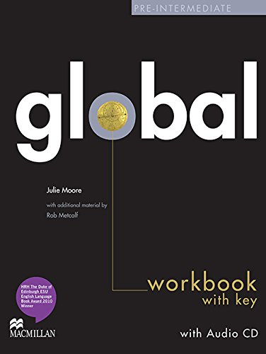 9780230430242: Global Pre-Intermediate Workbook with Answer Key & Audio CD