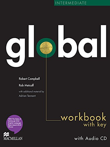 9780230430280: Global Intermediate Workbook with Answer Key & Audio CD