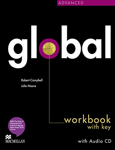 9780230430334: Global Advanced: Workbook & CD with Key