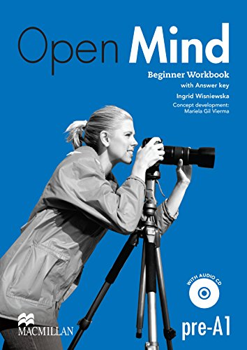 9780230458369: Open Mind Beginner Workbook with Key & CD Pack