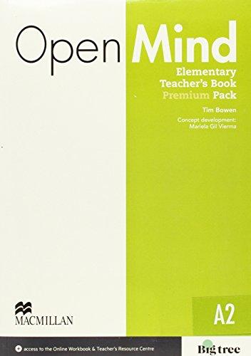 9780230469433: Open Mind Elementary Teacher's Book Premium Pack with Class Audio, Workbook Audio, Video & Online Workbook (A2)