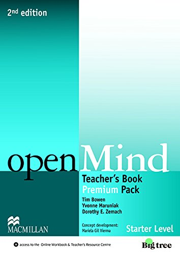 9780230469587: Open Mind 2nd Edition AE Starter Level Teacher's Edition Premium Pack