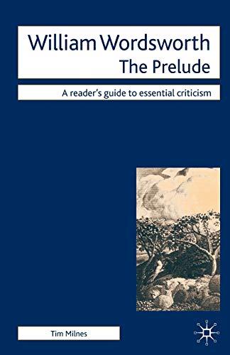 9780230500839: William Wordsworth: The Prelude