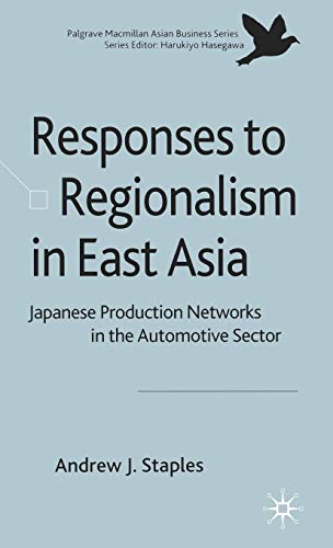 9780230516250: The Responses to Regionalism in East Asia: Japanese Production Networks in the Automotive Sector (Palgrave Macmillan Asian Business Series)