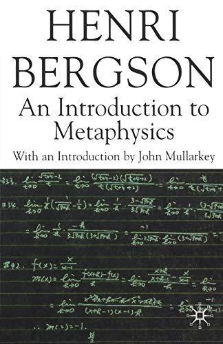 9780230517233: An Introduction to Metaphysics (Henri Bergson Centennial Series)