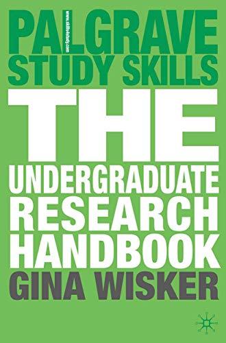 9780230520974: The Undergraduate Research Handbook (Palgrave Study Skills)