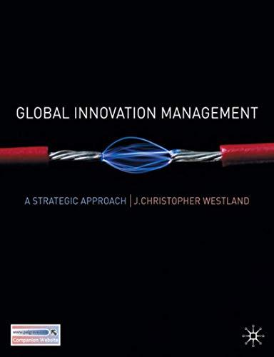 9780230524910: Global Innovation Management: A Strategic Approach