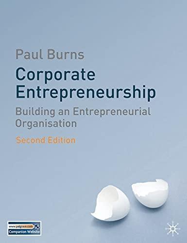9780230542631: Corporate Entrepreneurship: Building an Entrepreneurial Organisation