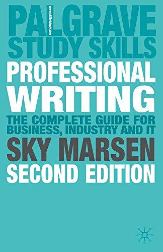 9780230542983: Professional Writing: 2nd Edition (Palgrave Study Skills)