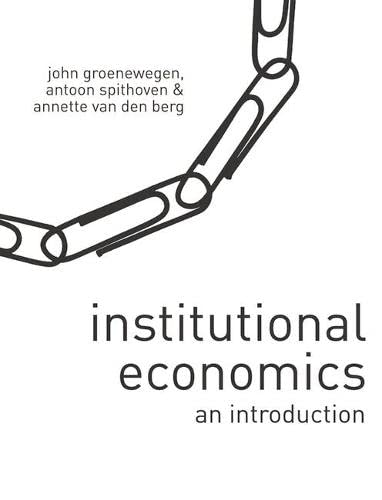 9780230550735: Institutional Economics: An Introduction