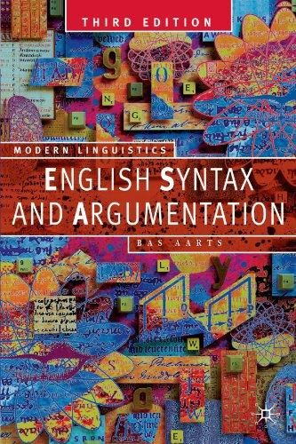 9780230551213: English Syntax and Argumentation
