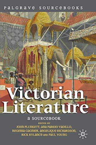 9780230551756: Victorian Literature: A Sourcebook (Palgrave Sourcebooks)