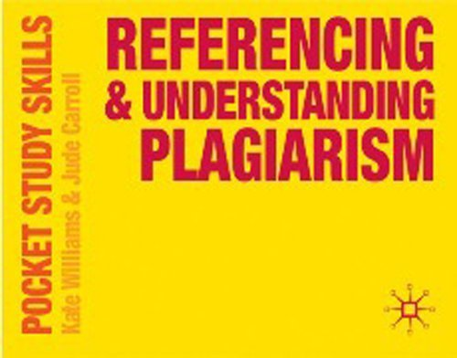 9780230574793: Referencing and Understanding Plagiarism (Pocket Study Skills)