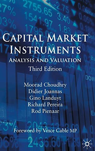9780230576032: Capital Market Instruments: Analysis and Valuation