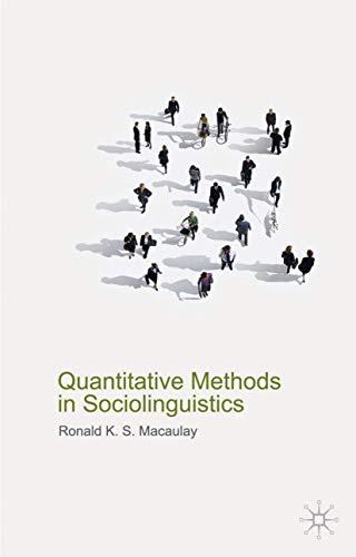 9780230579170: Quantitative Methods in Sociolinguistics