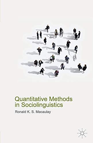 9780230579187: Quantitative Methods in Sociolinguistics