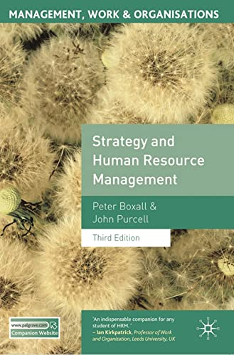 9780230579354: Strategy and Human Resource Management: Third Edition (Management, Work and Organisations)