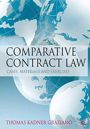 9780230579798: Comparative Contract Law: Cases, Materials and Exercises
