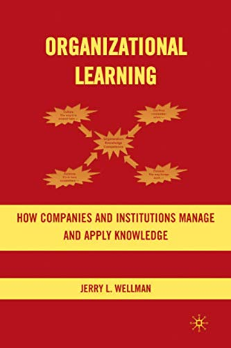Organizational Learning How Companies & Institutions Manage: Jerry Wellman