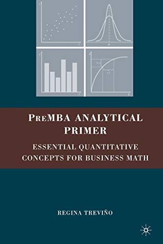 9780230609136: Premba Analytical Primer: Essential Quantitative Concepts for Business Math