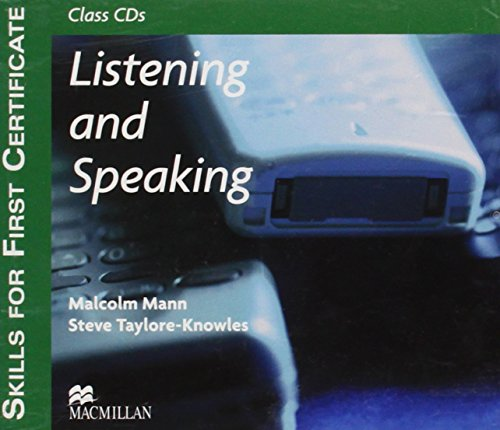 9780230716964: Skills for 1st Certificate - Listen and Speaking CD: Listening and Speaking - Audio CD