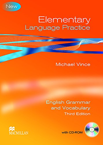 9780230726970: Elementary Language Practice Student Book with Key and CD ROM - Suitable for KET / A2 Level