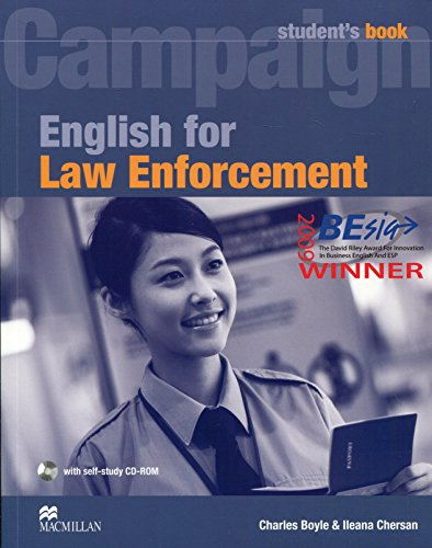 9780230732582: English for Law Enforcement: Student Book with CD-ROM