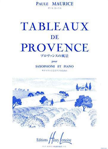 9780230939530: Tableaux de Provence --- Saxophone Alto et Piano