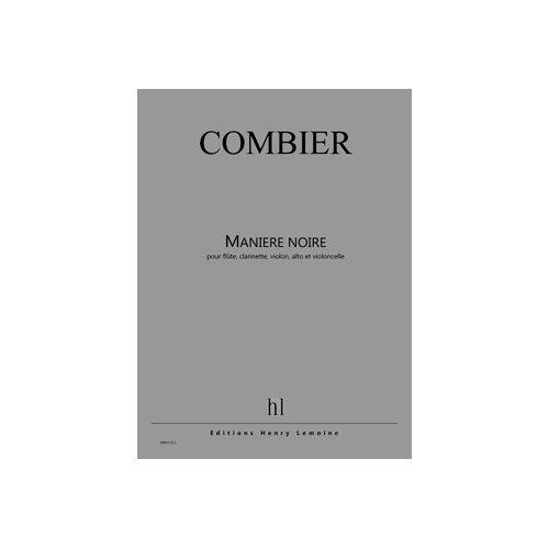 9780230988101: Manière Noire --- Flûte, Clarinette, Violon, Alto et Violoncelle