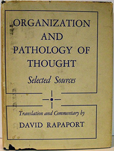 9780231015875: Organization and Pathology of Thought: Selected Sources