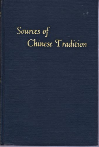 9780231022552: Sources of Chinese Tradition: 001
