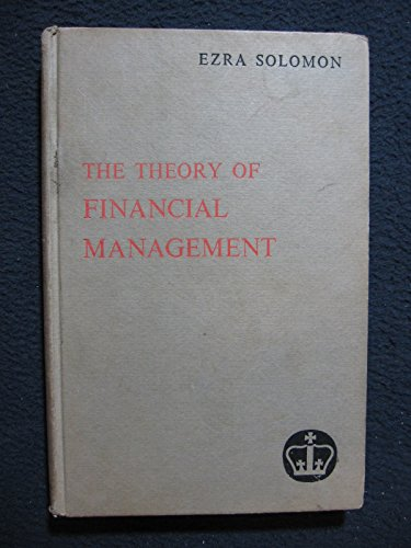 9780231026048: Theory of Financial Management